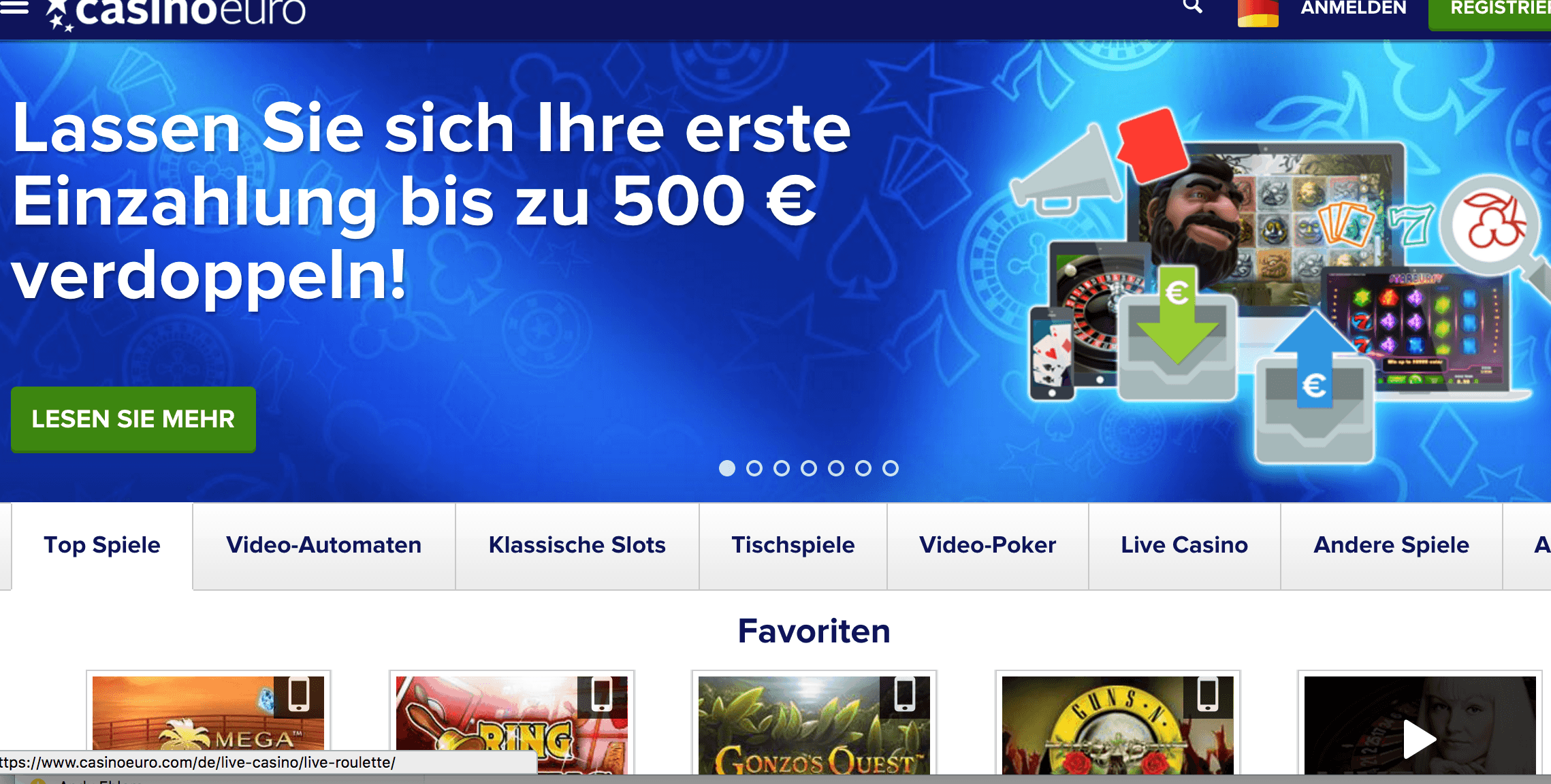 Casinoeuro im Casinotest