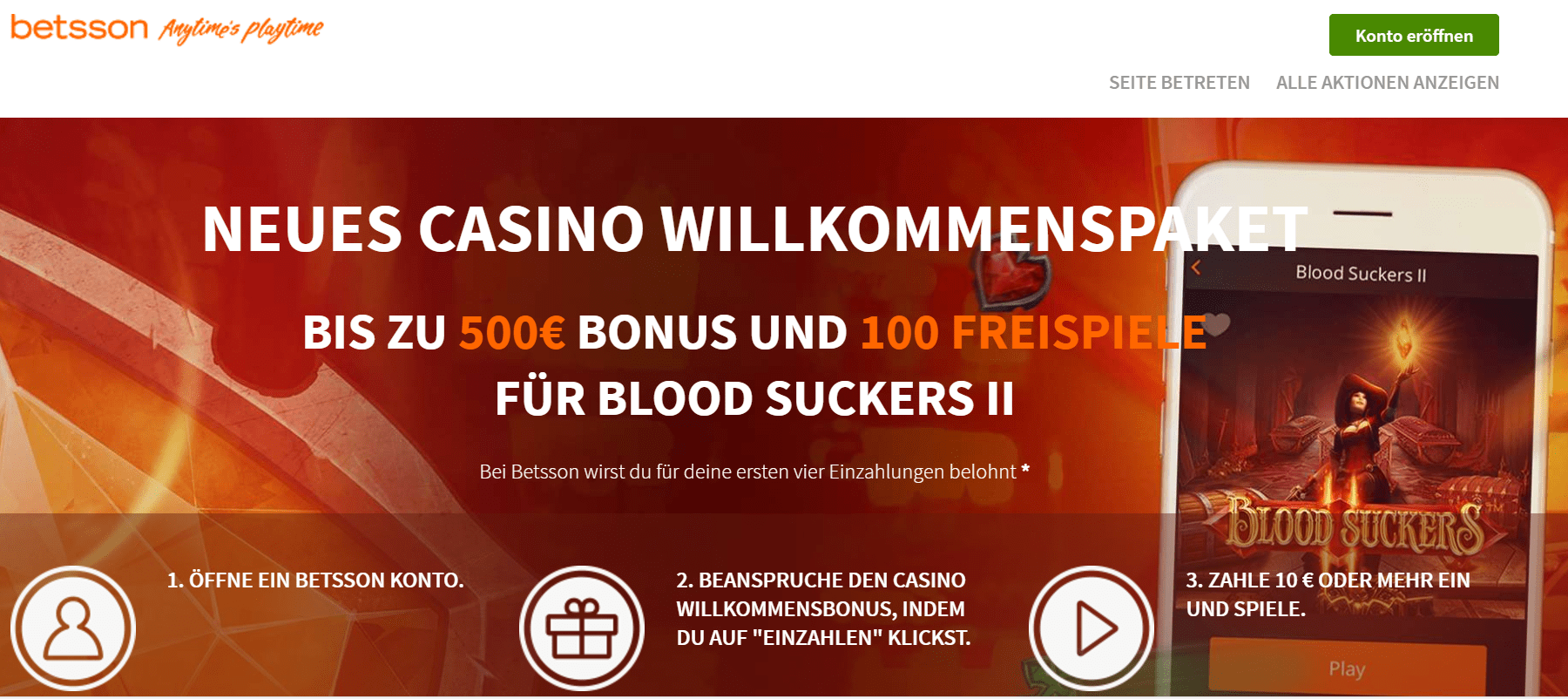 Betsson im Casinotest