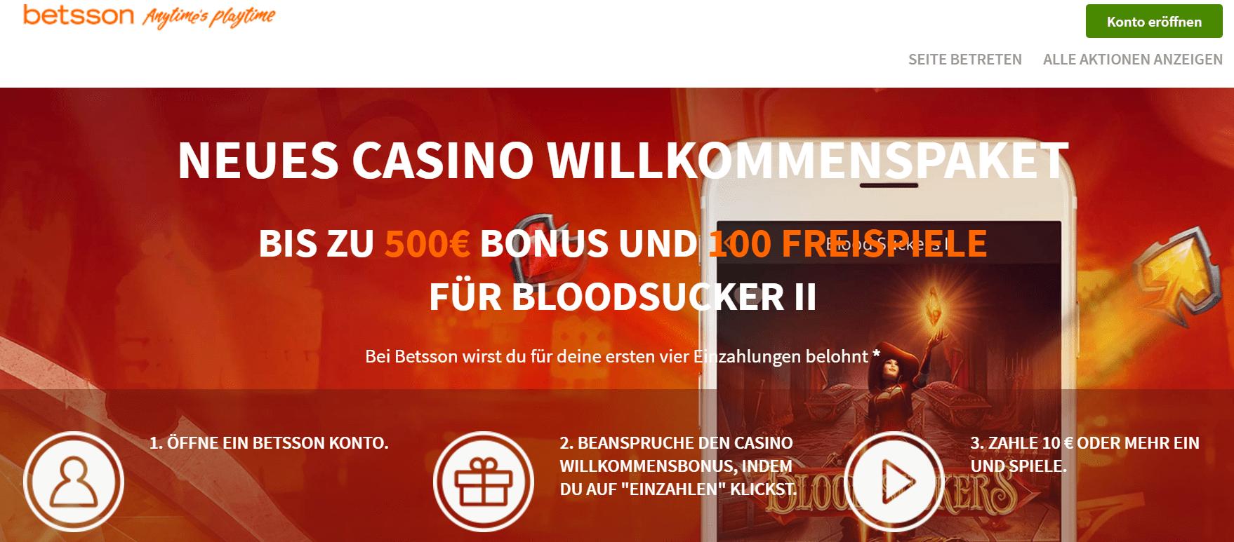 100 Freispiele Bloodsucker II