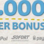 Bis zu 10.000 Euro Bonus bei 888.com