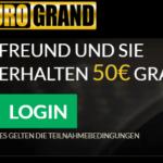 Freunde werben und 50 Euro im EuroGrand Casino kassieren