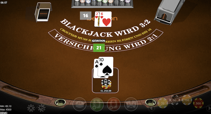 Black Jack im Online Casino spielen
