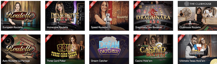 Live Spiele mit echten Croupiers im Casino Club Test