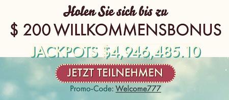 77 Freispiele für Jackpots im 777 Casino