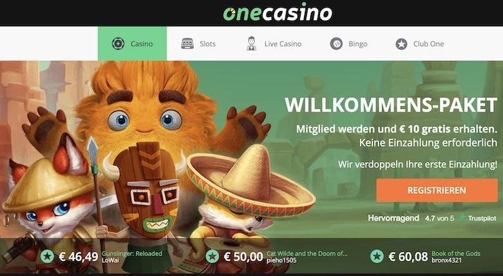 onecasino website